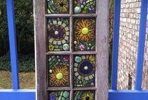 mosaico y vidrio