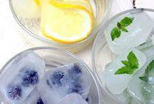 hielo con fruta