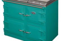 Blue and green kitchens
