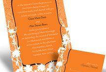Orange Wedding Invitations / by InvitesWeddings