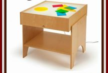 Montessori inšpirácie - light table