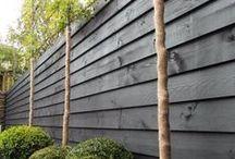 Zweedsrabbat schutting tuinhuisjes