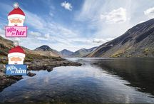 lakes and lochs / Holiday in Lake district and scotland