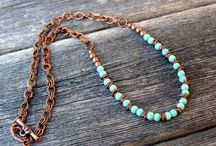 Earthy Stone & Leather Necklace / A group of ideas compound of leather, solid natural stones, burnt strings and chains, woods, and vintage style.