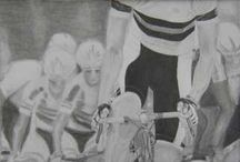 Art - Sheri Bredeson / Sports-themed figurative art and portraiture worked in graphite on paper. More at sheribredeson.com