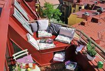tetőterasz, balkon