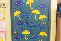 Classroom ideas / Door decorations and crafts for the kids