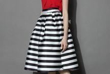 MIDI skirt outfit / by Noemi Lagman