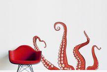wall decor fish octopus