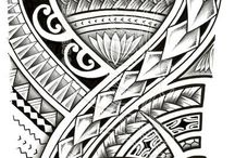 Polynesian tattoo artwork