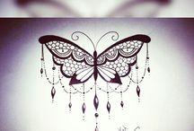 tattoo butterfly hand