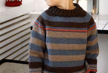 Strikkede barnetrøjer