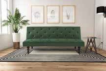 grønn sofa
