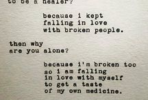 Broken people / We are not as strong as we show ourselves to be