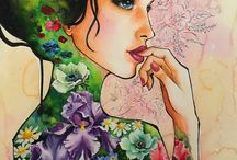 - MY ART - / I'm a hobby painter who is inspired by flowers, beauty and feelings. I've started my journey into the artist-world just now & I hope my persistency will help to me during this nice challenge.