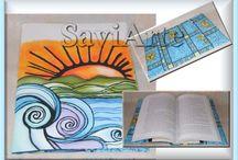 Capas para livros ou agendas - Needls books / Peças feitas em tecido para protecção de livros ou agendas  https://www.facebook.com/conceicao.vidal