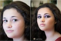 Makeup and brows by Salon Oriana / Makeovers by our own artists, for all occasions.