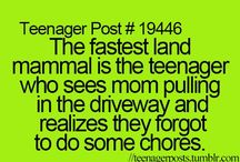 teenager posts / My favourite teen quotes.