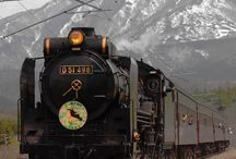 The countryside+steam locomotive