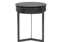 Contemporary Austin Black High Gloss Bedside Table