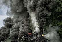 trens antigos Maria fumaça.