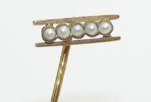 Stick Pins / Stick pins for Gentlemen. Worn in a cravat, tie or lapel. A selection from a bygone age