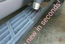 Reparere plast/riper på bil