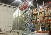 Commercial Construction - Kimberly Warehouse Wall / Commercial construction of a warehouse in Chicago. For more remodeling photos, visit:  http://123remodeling.com