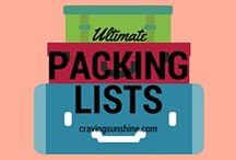Travel Packing Lists / Because we all either over pack, forget to pack something essential or both!