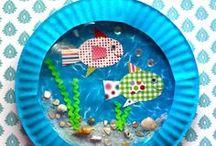 VEDEN ALLA askarteluja / Askarteluja veden alla elävistä eläimistä.