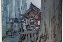 Hiroshi Yoshida / Hiroshi Yoshida (吉田 博 Yoshida Hiroshi?, September 19, 1876 – April 5, 1950) was a 20th-century Japanese painter and woodblock printmaker. He is regarded as one of the greatest artists of the shin-hanga style, and is noted especially for his excellent landscape prints.