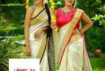 Kerala sarees