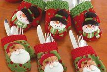 ornamenti tavola natalizia