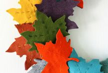 Felting into Fall / Fall and autumn themed felt craft creations including wet, needle and craft sheet felting