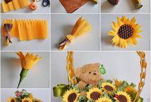 déco florale avec bonbons