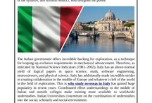 Study in Italy / Read on to know some of the reasons supporting the arguments in the favour of study in italy and the country as a popular higher education destination.