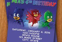 Luke's 5th Birthday / P J Masks Party theme