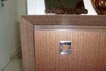 Sala de jantar ano 2009 / Desenho para os móveis. Cristaleira e gaveteiro para faqueiros e toalhas de mesa. Atemporal !!!