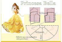 PRINCESAS vestidos (patrones)