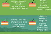 Vegetariana y aderezos