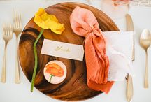 Place Settings / Beautiful inspiration for place settings or wedding tablescapes.