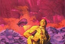 FRED PFEIFFER ORIGINAL DOC SAVAGE COVER PAINTINGS, SANS TYPE / Origina paintings, sans type, by artist Fred Pfeiffer for Doc Savage Bantam Books paperback series of reprints of original pulp titles.