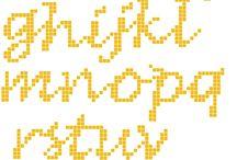 Geborduurde alfabetten