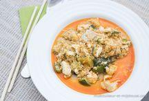 Curry de lotte lait de coco
