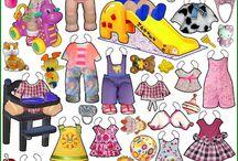 бумажные куклы дети