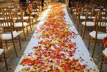 Red, yellow and orange wedding