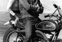 motorcycle and Steve McQueen