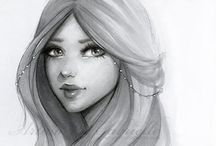 Pencil Drawings and line art