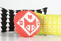 Nos coussins et linges de lit pour enfant Les Sales Gosses / #mobilier #textile #enfant #design