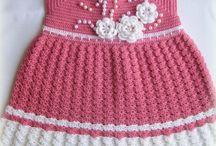 Dantel bebek elbiseleri
